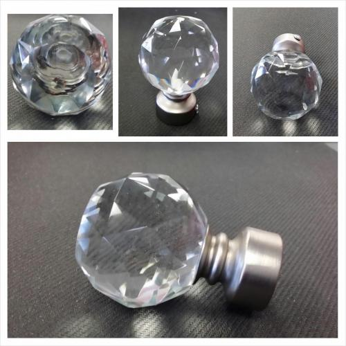 crystal finial round